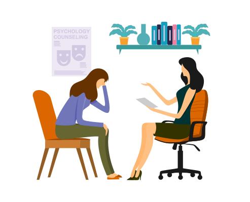Psicoterapia illustrazione trattamento